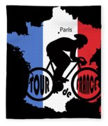 Tour De France 3 Fleece Blanket