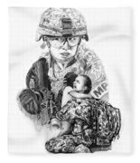 Tour Of Duty - Women In Combat Le Fleece Blanket