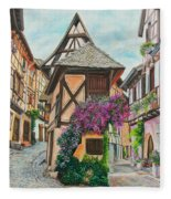 Touring In Eguisheim Fleece Blanket