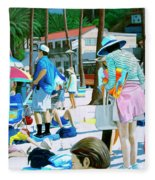Tourists Fleece Blanket