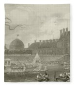 Tournay On The Seine During The July Fetes Fleece Blanket