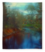 Toward The City Lights Fleece Blanket