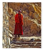 Towards Nirvana Impasto Fleece Blanket