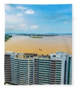 Tower And Guayas River Fleece Blanket