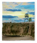 Tower And Rocks Fleece Blanket
