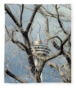 Tower And Trees Fleece Blanket