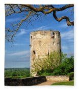 Tower At Chateau De Chinon Fleece Blanket