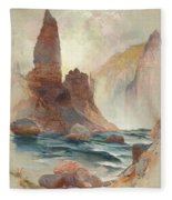Tower At Tower Falls, Yellowstone Fleece Blanket