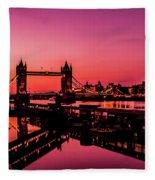 Tower Bridge, London. Fleece Blanket