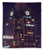 Tower In Austin Texas Fleece Blanket