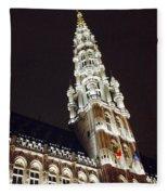 Brussels Tower Light Fleece Blanket