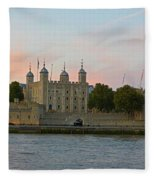 Tower Of London On The Thames Fleece Blanket
