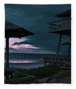 Tower Over The Shoreline Fleece Blanket