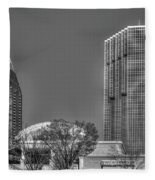 Tower Place Stripped Buckhead Atlanta Art Fleece Blanket