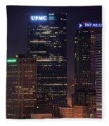 Towering Buildings Of Pittsburgh Fleece Blanket