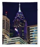 Towering Over Philly Fleece Blanket