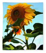 Towering Sunflower Fleece Blanket