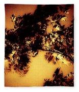 Towering Trees In The Twilight Fleece Blanket