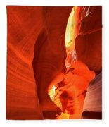 Towering Walls Of Antelope Canyon Fleece Blanket