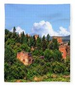 Towers Of The Alhambra Fleece Blanket