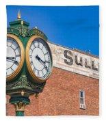 Town Clock Lincoln Nebraska Fleece Blanket