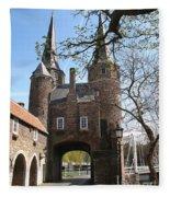 Town Gate - Delft Fleece Blanket