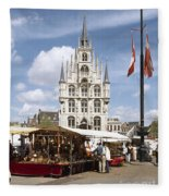 Town-hall And Marketplace Fleece Blanket
