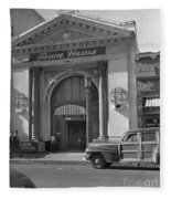 Town House And Woody Station Wagon, Alvarado Street - Monterey   Fleece Blanket