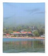 Town Of Grand Marais Fleece Blanket