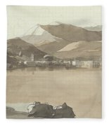 Town Of Lugano, Switzerland, 1781  Fleece Blanket