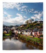 Town Of Saarburg Fleece Blanket