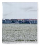 Town On The Water Fleece Blanket