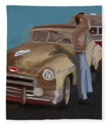 Toy Car Holiday Fleece Blanket