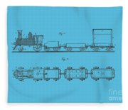 Toy Train Tee Fleece Blanket