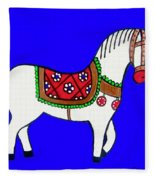 Toy Wooden Horse 1 Fleece Blanket