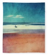 Traces In The Sand Fleece Blanket