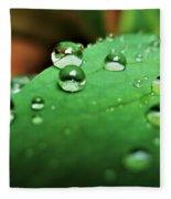 Traces Of Rain Fleece Blanket