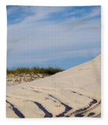 Tracks In The Sand Dunes Fleece Blanket