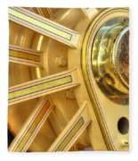 Traction Engine Wheel Fleece Blanket