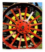 Tractor Big Wheel Fleece Blanket