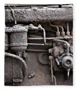 Tractor Engine II Fleece Blanket