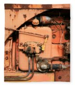 Tractor Engine V Fleece Blanket
