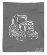 Tractor Transparent Fleece Blanket