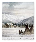 Trading Outpost, C1860 Fleece Blanket