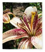 Traditional Art Lily Flowers Floral Garden Baslee Troutman Fleece Blanket
