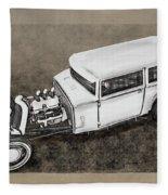 Traditional Styled Hot Rod Sedan Fleece Blanket