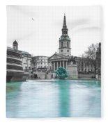 Trafalgar Square Fountain London 3 Fleece Blanket