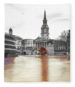 Trafalgar Square Fountain London 3b Fleece Blanket
