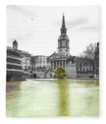 Trafalgar Square Fountain London 3c Fleece Blanket