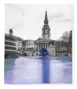 Trafalgar Square Fountain London 3d Fleece Blanket